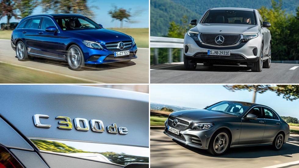 Todos los coches con etiquetas CERO y ECO que vende Mercedes en España
