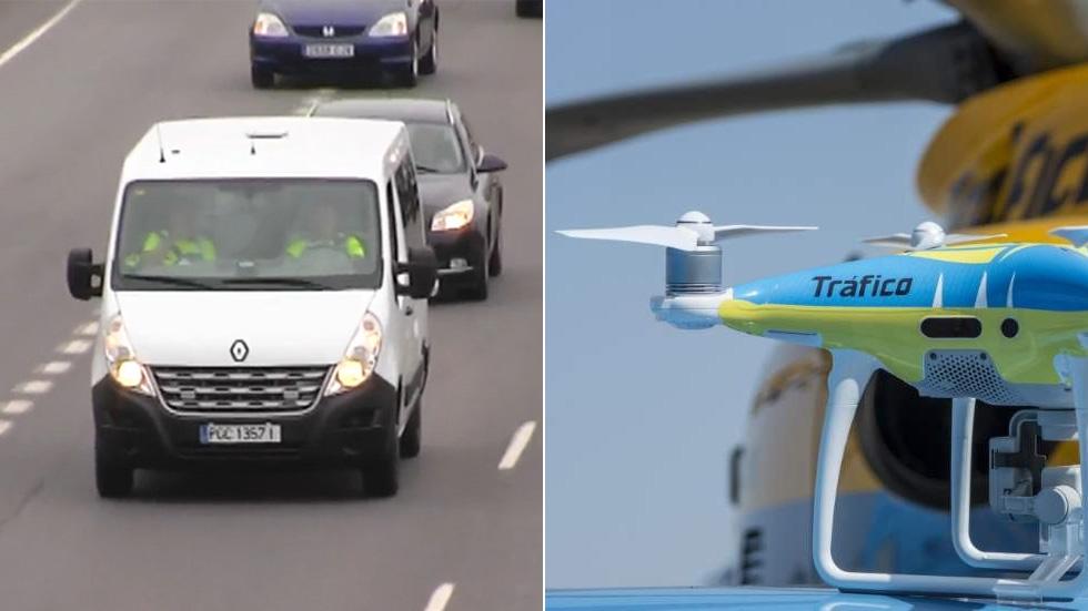 Así son los drones y las furgonetas camufladas de la DGT que ya vigilan las carreteras