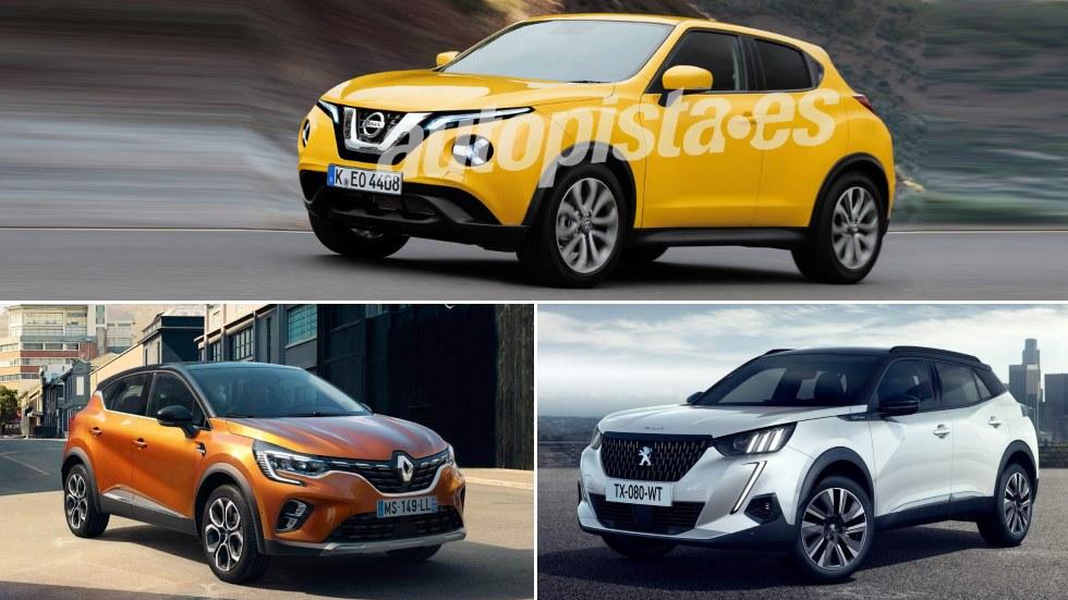 Nissan Juke, Peugeot 2008 y Renault Captur: ¿qué nuevo SUV es mejor?