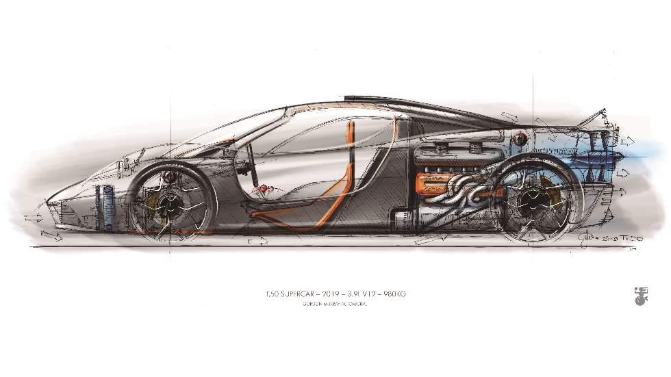 El diseñador del McLaren F1 quiere crear el superdeportivo más ligero de la historia, el T.50