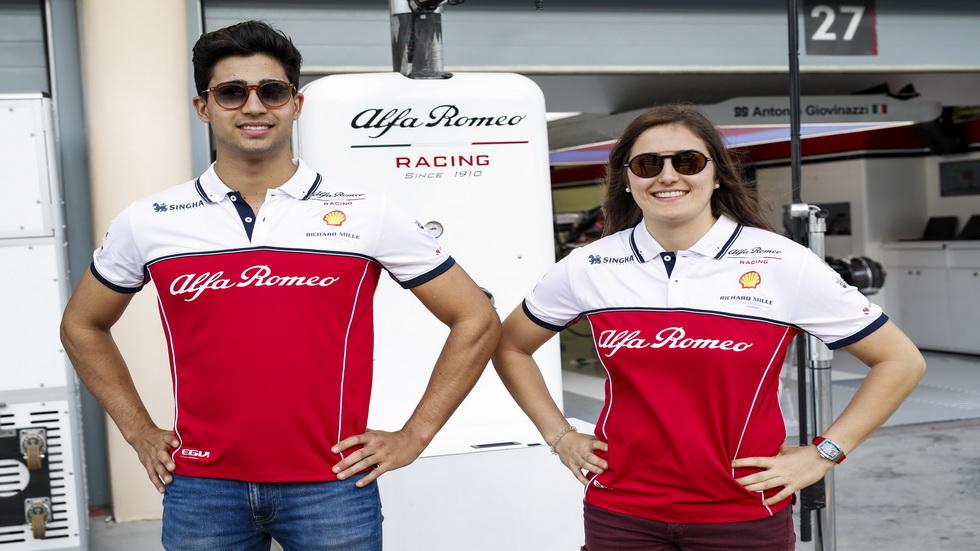 Tatiana Calderón y Juan Manuel Correa probarán un Alfa Romeo en Paul Ricard