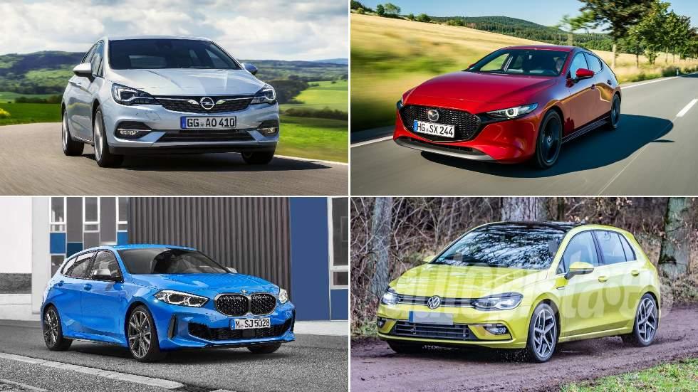 Los nuevos compactos que llegan los próximos meses: Mazda3 Skyactiv-X, Golf, Serie 1 y Astra