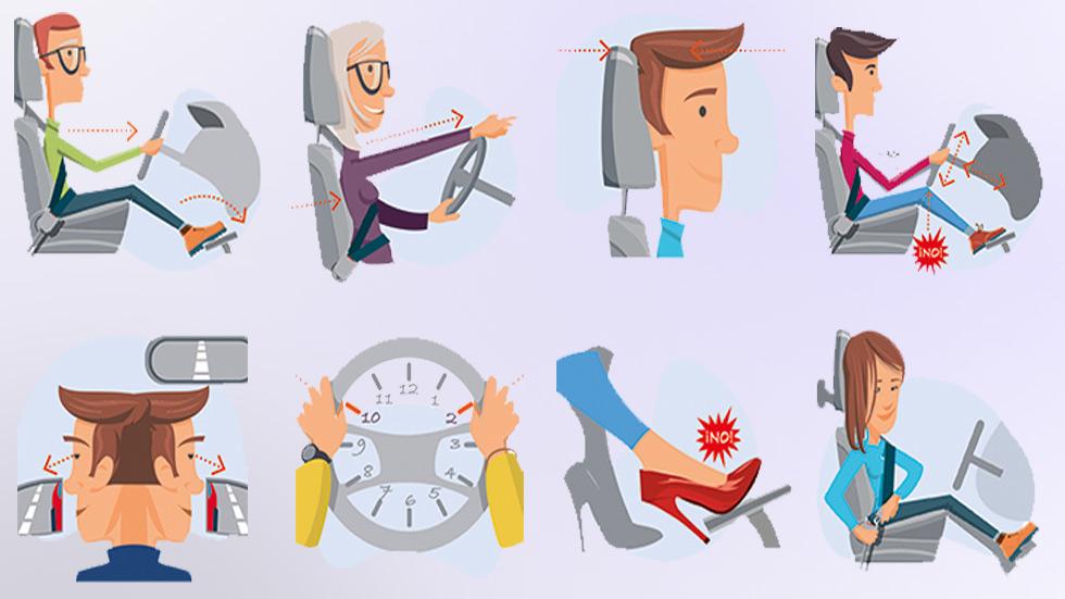 La DGT explica cómo se ha de sentar correctamente el conductor en el coche