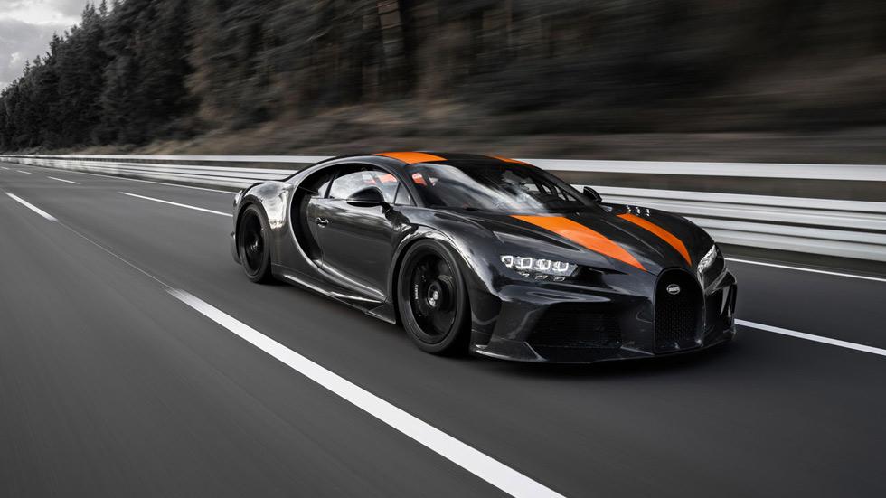 ¡Récord mundial de velocidad! Un Bugatti Chiron, a más de 490 km/h