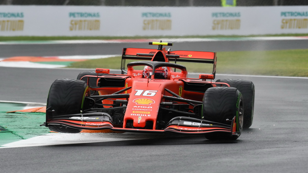 GP de Italia de F1 (FP2): Charles Leclerc dominó una sesión mixta, entre seca y mojada