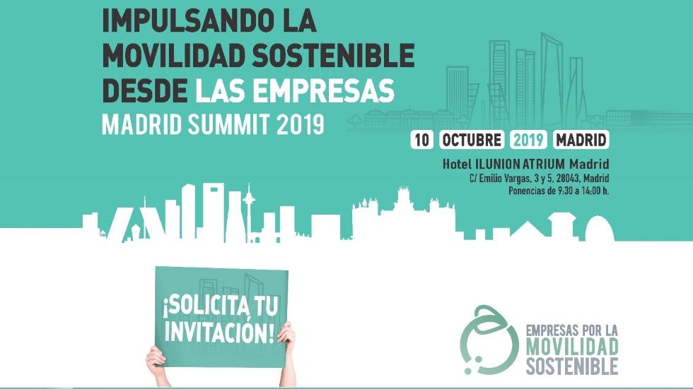 Impulsando la Movilidad Sostenible desde las empresas, Madrid Summit 2019: ¡INSCRÍBETE GRATIS!