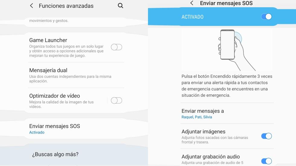 Tu móvil manda alertas SOS con fotos y audio que pueden salvarte la vida: cómo activarlas