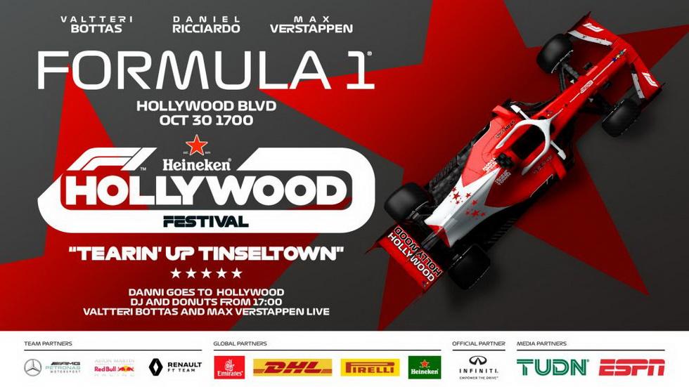 La Formula 1 viajará hasta Hollywood