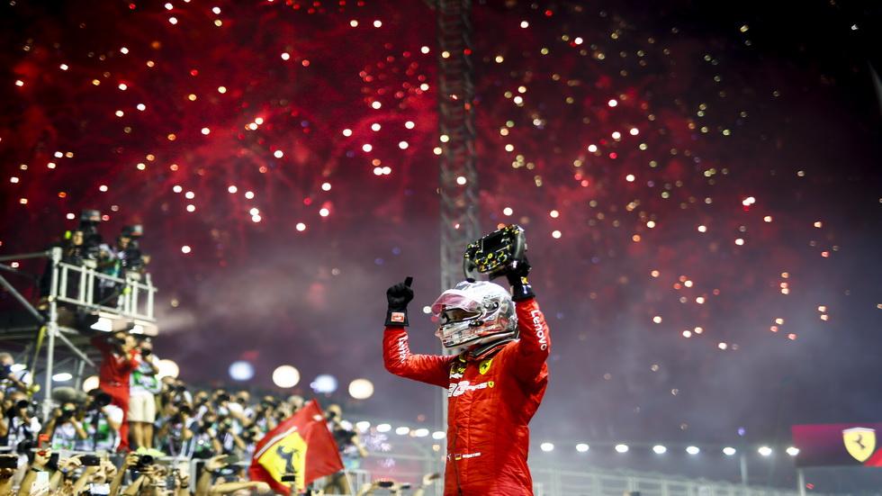GP de Singapur de F1: doblete de Ferrari, con Vettel por delante de Leclerc