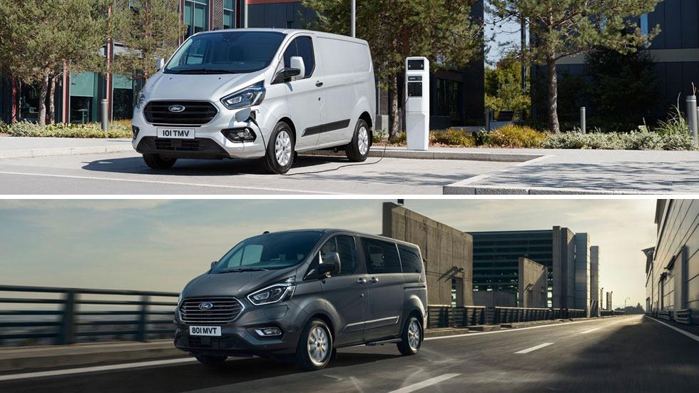Ford Transit y Tourneo Plug-in Hybrid: datos y fotos de las nuevas furgonetas híbridas enchufables