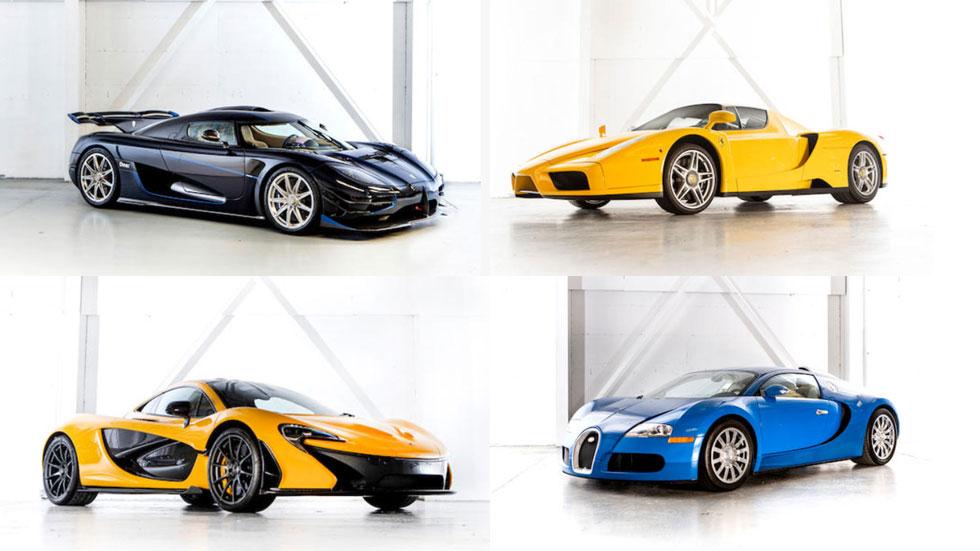 A subasta los 25 coches de lujo de Teodorin Obiang