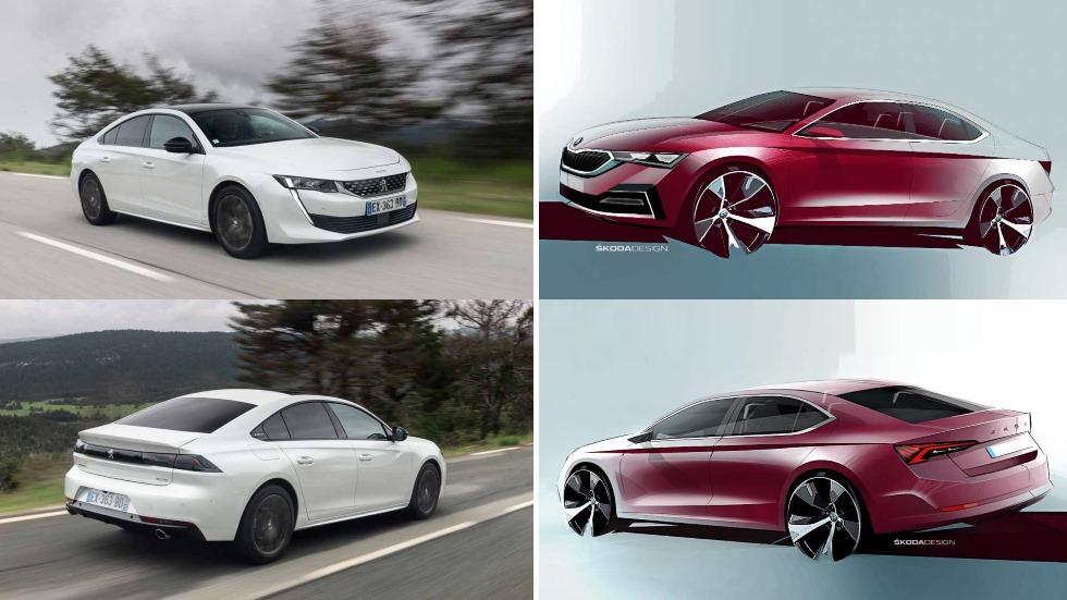 Skoda Octavia vs Peugeot 508: el gran duelo de berlinas en 2020, ¿cuál es mejor?