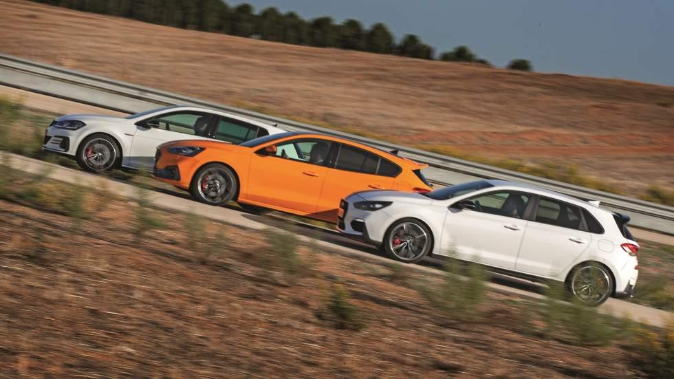 Ford Focus ST, Hyundai i30 N Performance y VW Golf GTI TCR: ¿cuál es el mejor deportivo?