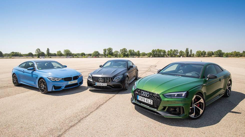 Audi RS 5, BMW M4 Competition y Mercedes-AMG C63s ¿cuál es más rápido?