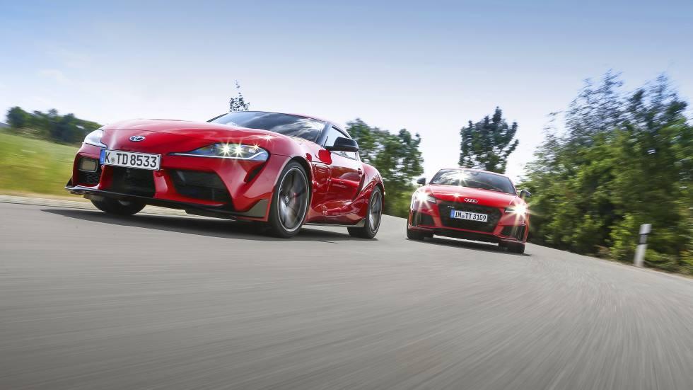 Audi TTS Competition vs Toyota Gr Supra: a prueba dos deportivos antagónicos