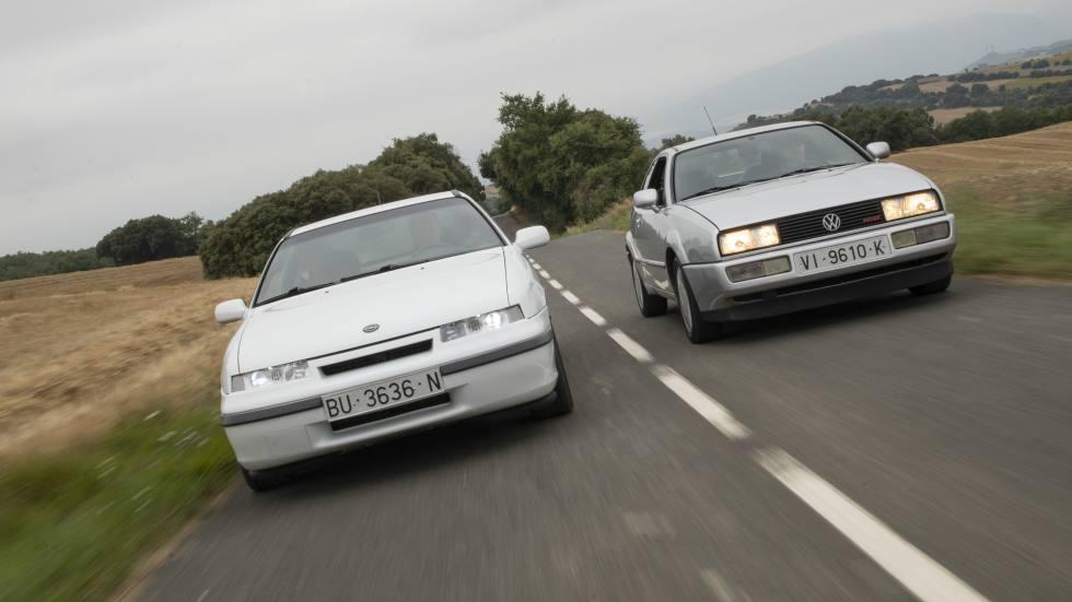 Opel Calibra 16v vs VW Corrado 16v: dos coupés de leyenda, frente a frente