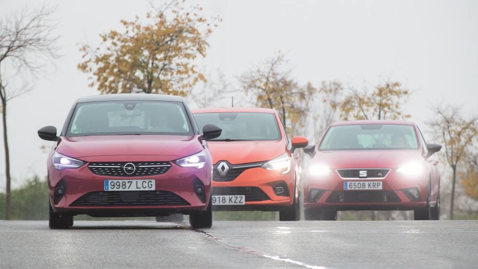 Nuevos Opel Corsa y Renault Clio frente a Seat Ibiza: qué utilitario de gasolina es mejor