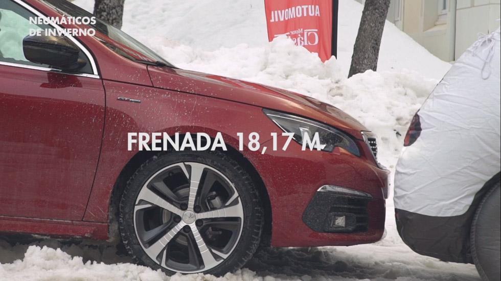 VÍDEO: Neumáticos de invierno frente a convencionales, prueba de frenada