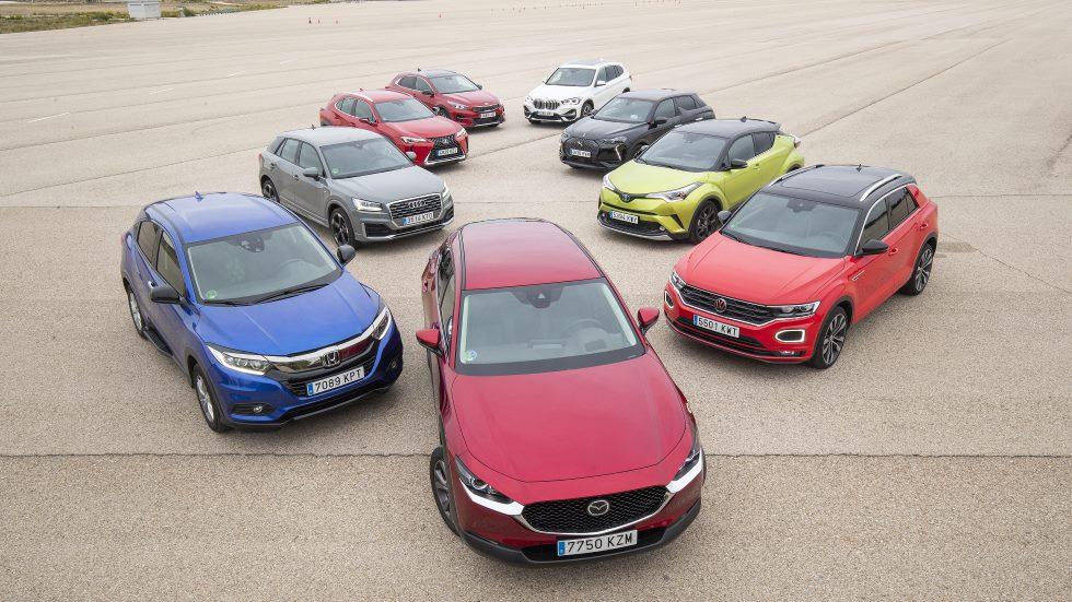 ¿El mejor SUV? Comparativa: CX-30, Q2, X1, C-HR, XCeed, T-Roc, DS 3, HR-V y UX