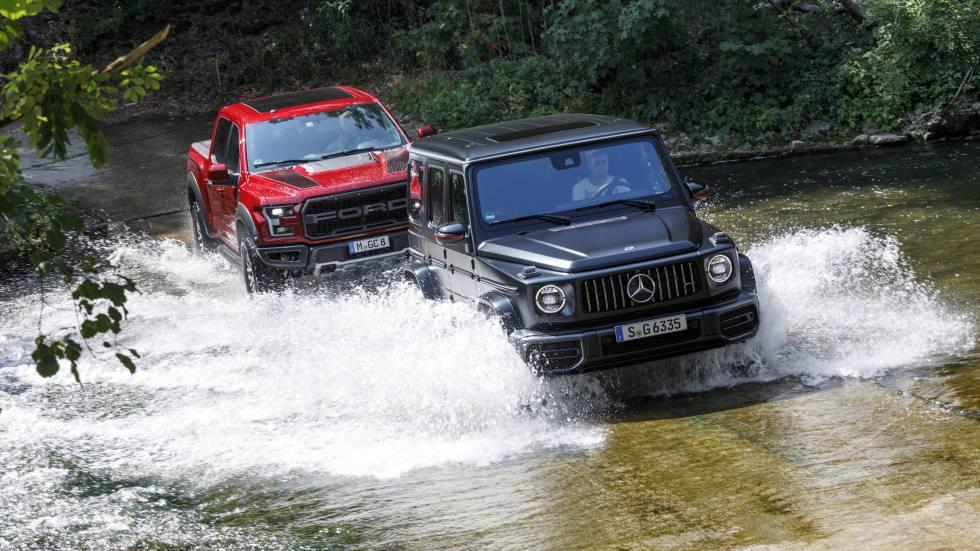 Ford F-150 Raptor y Mercedes-AMG 63 G: dos 4x4 muy bestias, a prueba