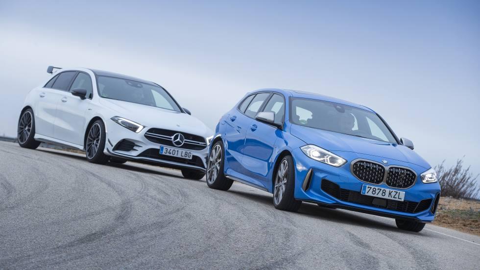 BMW M135i xDrive vs Mercedes-AMG A35 4Matic: en busca del mejor deportivo