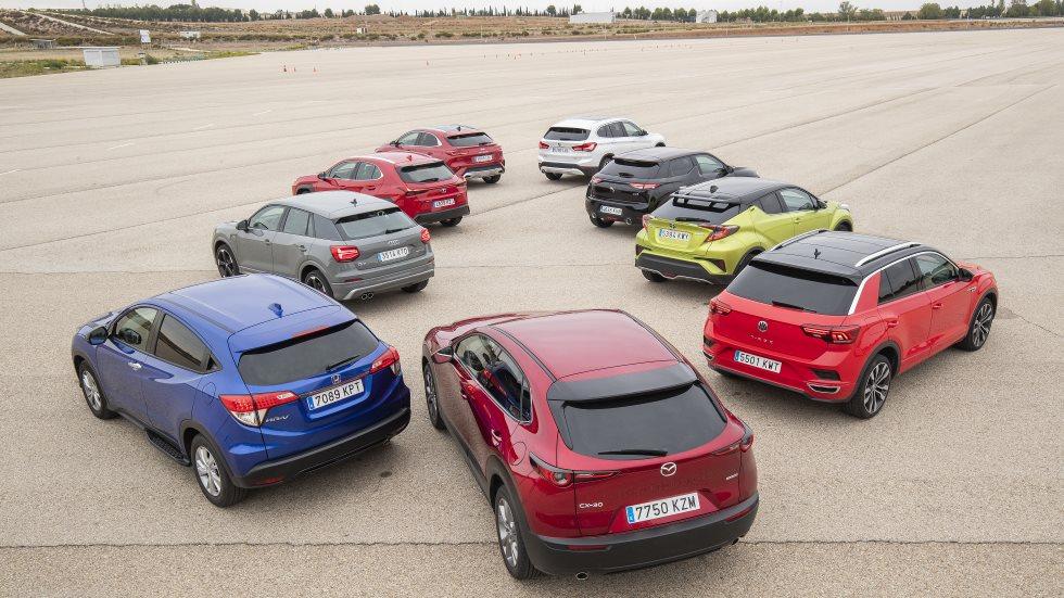 ¿El SUV más seguro? Test en pista: CX-30, Q2, X1, C-HR, XCeed, T-Roc, DS 3, HR-v y UX