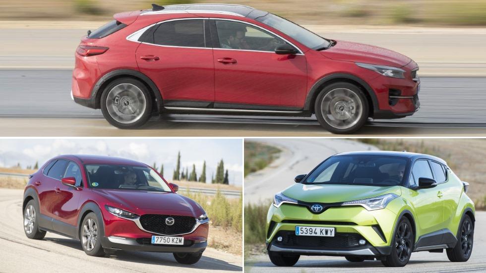 Mazda CX-30, Kia XCeed y Toyota C-HR: ¿cuál es mejor SUV? ¿Híbrido, micro-híbrido o gasolina?