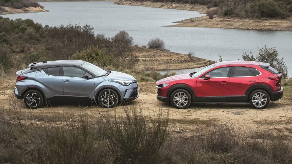 Mazda CX-30 frente Toyota C-HR: qué SUV con tecnología híbrida es mejor