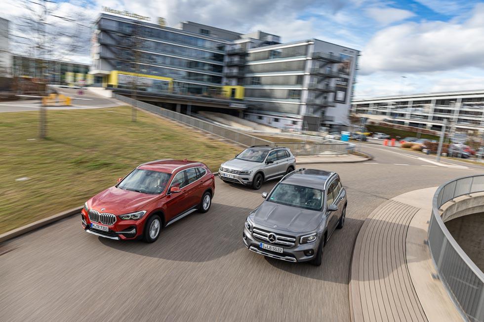 Mercedes GLB, BMW X1 y VW Tiguan: ¿qué SUV diésel es mejor?