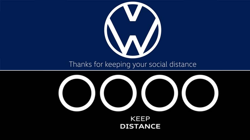 Audi y VW crean unos nuevos logotipos para concienciar sobre el coronavirus