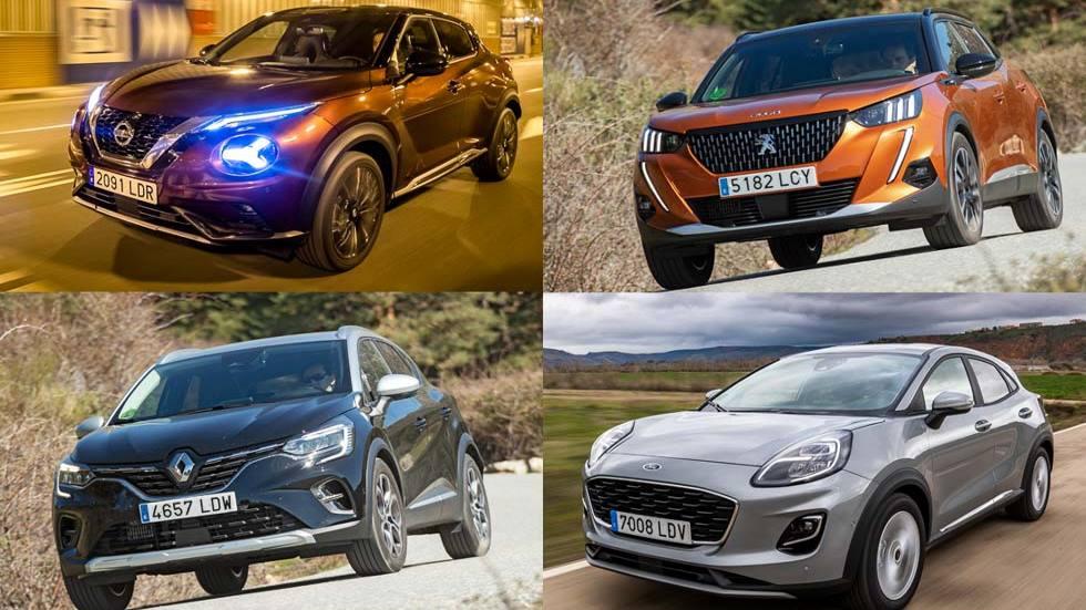 Nuevos Ford Puma, Peugeot 2008, Nissan Juke y Renault Captur: puntos a favor y en contra