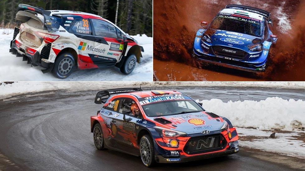 Coches del Mundial de Rallyes 2020: Hyundai, Toyota y Ford, en el WRC