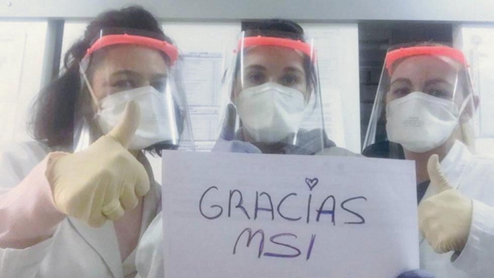 Teo Martín fabrica en el MSI pantallas para los sanitarios