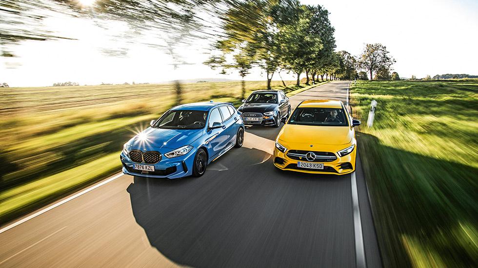 Comparativa: Audi S3, BMW M135i xDrive y Mercedes-AMG A35 4Matic, ¿el mejor deportivo?