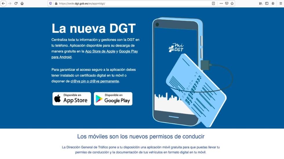 El carné de conducir electrónico puede ser ilegal y estudian denunciarlo: la DGT lo desmiente