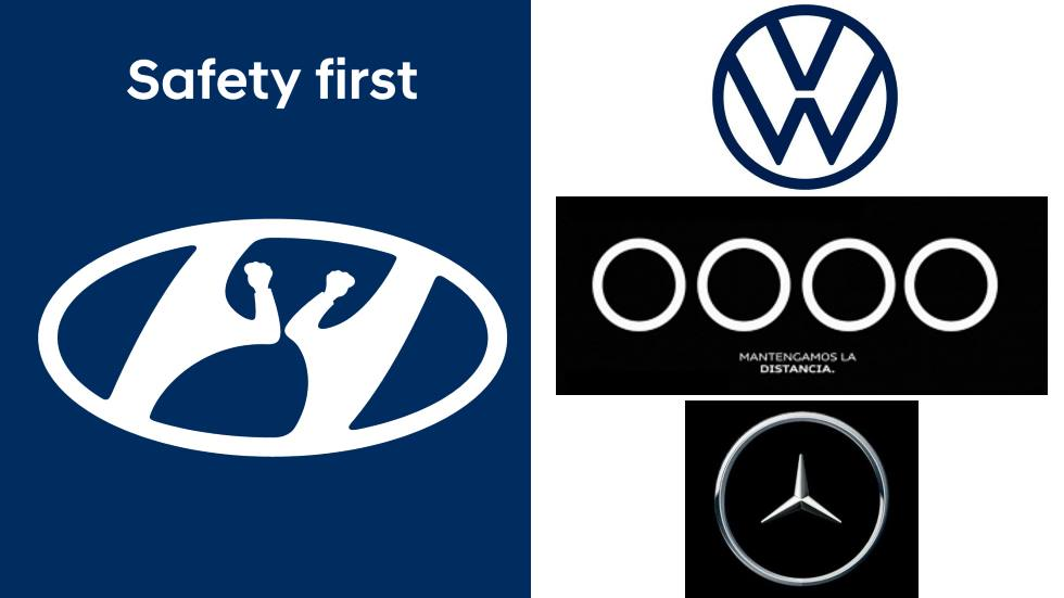 VW, Audi, Hyundai y Mercedes cambian sus logos para concienciar del coronavirus