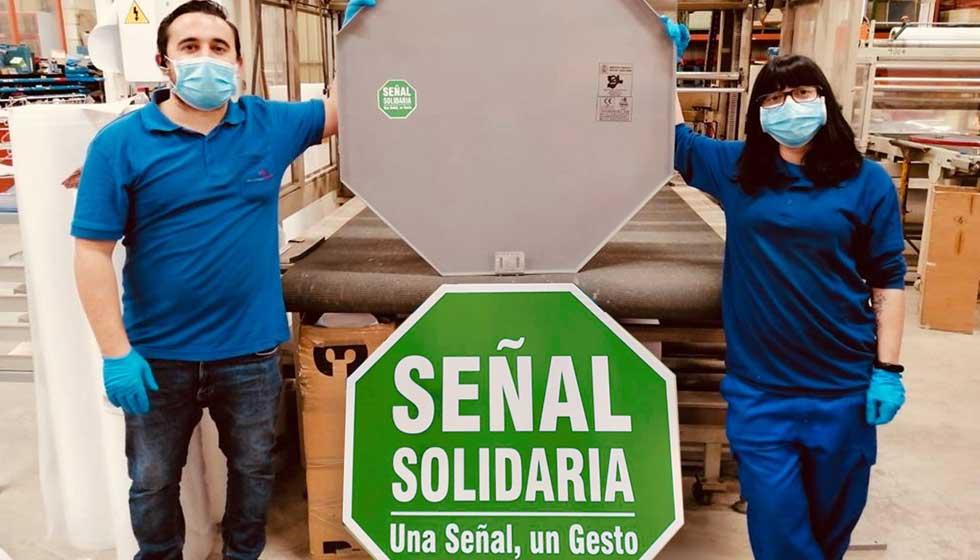 Así serán desde ahora las nuevas señales solidarias que se instalen en España