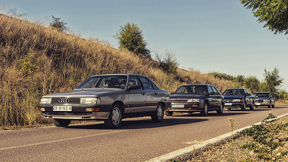 Audi 200, Cadillac Deville, Ford Scorpio y Renault 25: cuatro súper berlinas de los 80 y 90