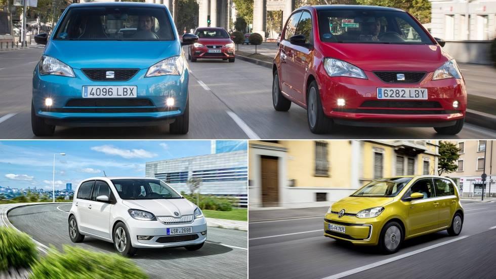 "Seat Mii, Skoda Citigo-e y VW e-up!: las claves de estos tres ""clones"" eléctricos"