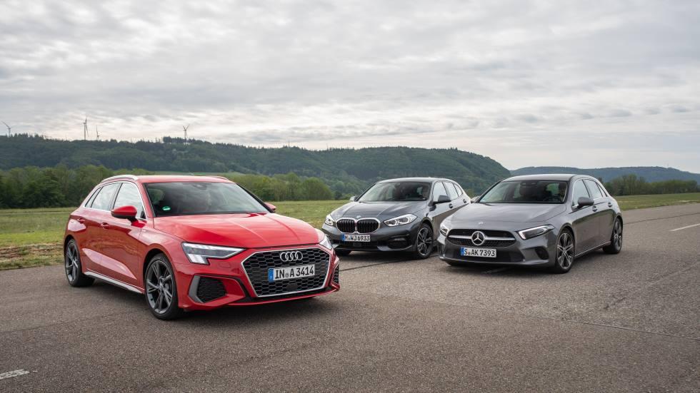 Nuevo Audi A3 35 TDI vs BMW 118d y Mercedes A 200d: ¿qué compacto diésel es mejor?