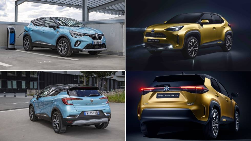 Renault Captur E-Tech vs Toyota Yaris Cross Hybrid: el nuevo duelo de SUV híbridos
