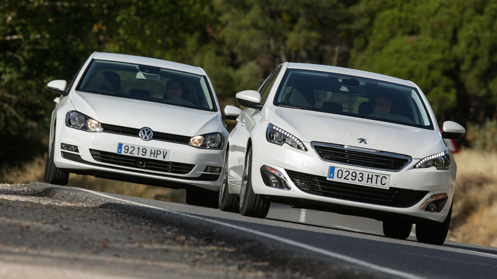 Comparativa: Peugeot 308 1.6 e-HDi/115 vs VW Golf 1.6 TDi/105