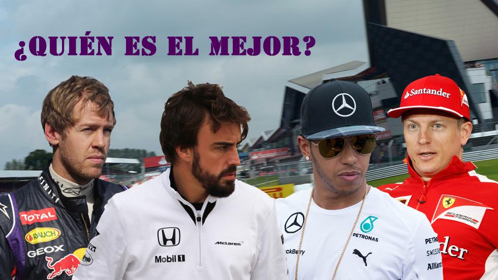 Alonso, Hamilton, Vettel y Räikkönen: el mejor, según las estadísticas