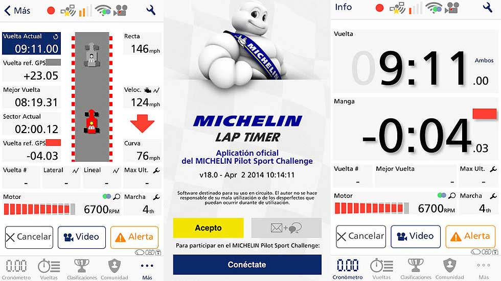 App MICHELIN Lap Timer, mide tu destreza al volante con tu móvil