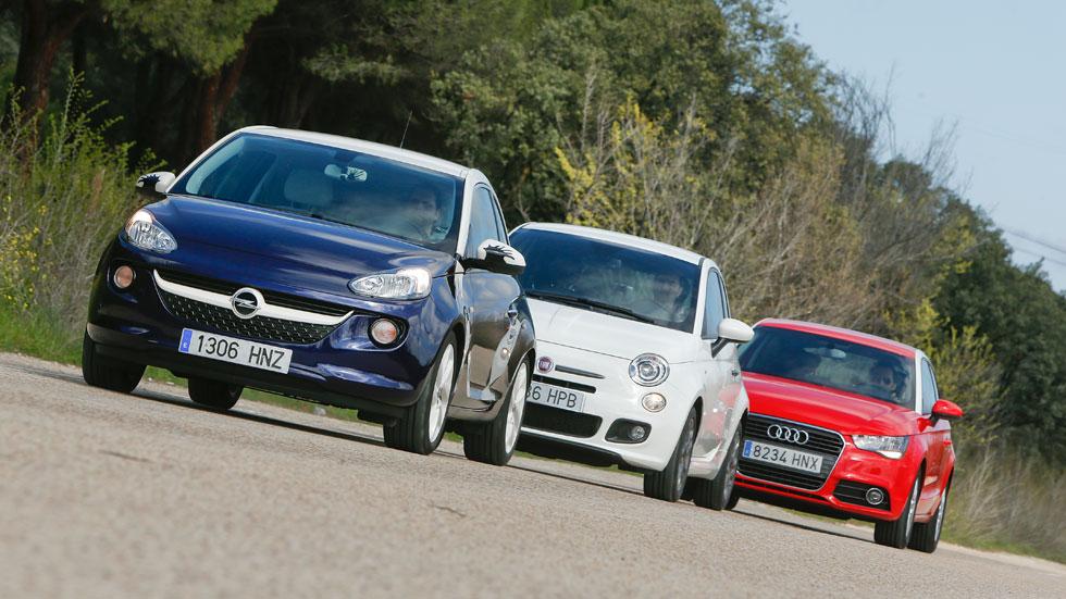 Comparativa: Audi A1 1.2 TFSI vs Fiat 500 0.9 TwinAir y Opel Adam 1.4