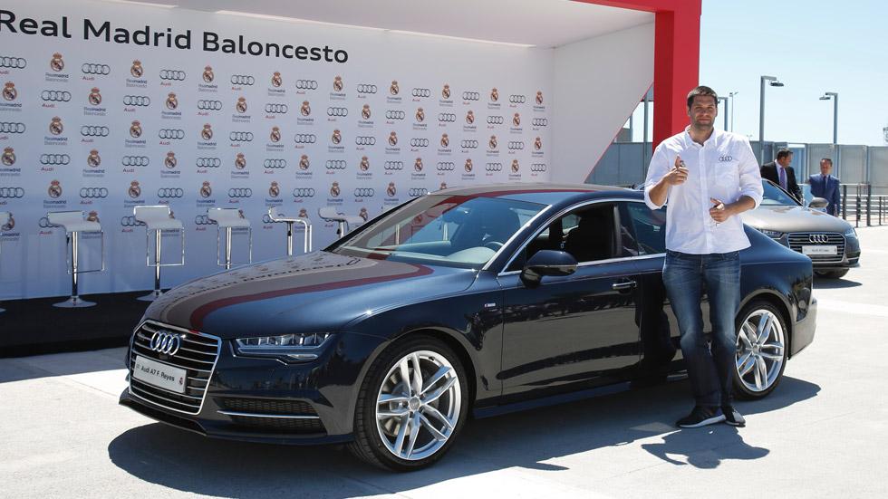 Los jugadores del Real Madrid de basket, también con Audi