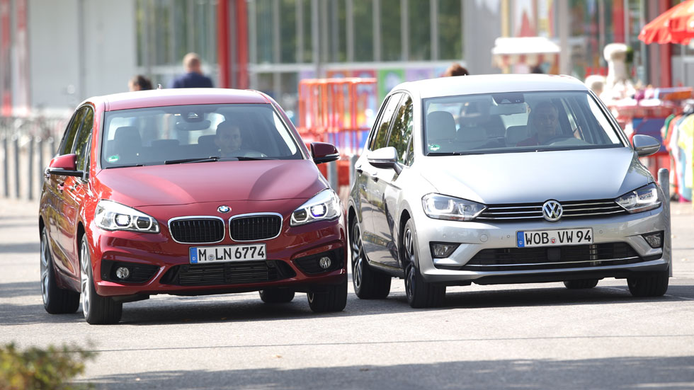Comparativa: BMW 218d Active Tourer vs VW Golf Sportsvan 2.0 TDi