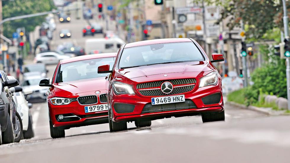 BMW 328 vs. Mercedes CLA, imagen deportiva
