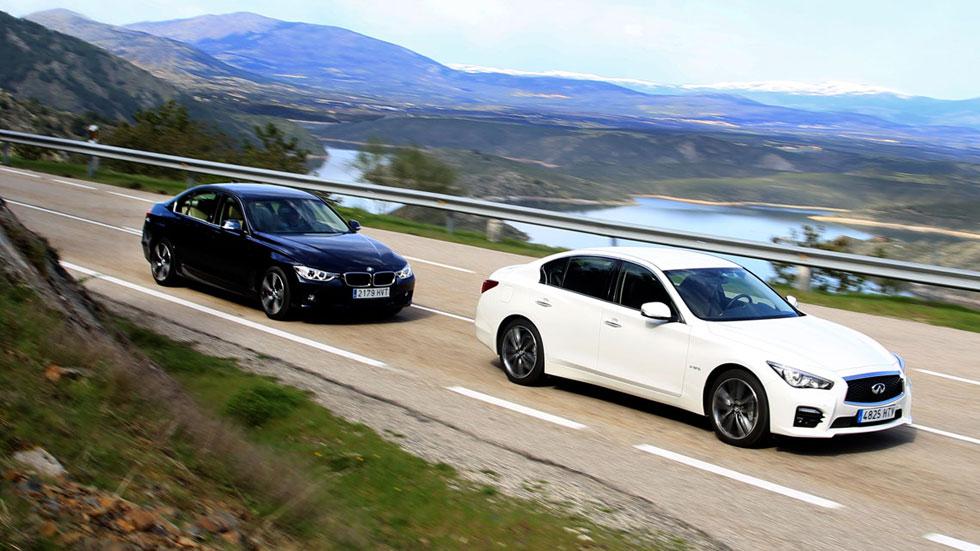 Comparativa: BMW Serie 3 ActiveHybrid vs Infiniti Q50 Hybrid 3.5 AWD