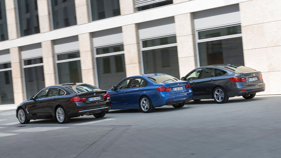 Comparativa: BMW Serie 3 vs BMW Serie 3 GT y BMW Serie 4 Gran Coupé